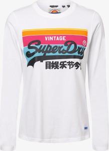Bluzka Superdry z długim rękawem z bawełny
