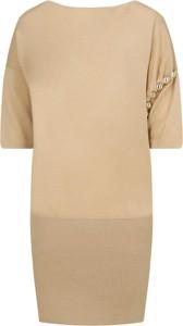 Sukienka Liu-Jo z krótkim rękawem mini z wełny