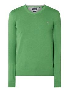 Zielony sweter Christian Berg Men z bawełny