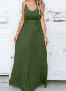 Zielona sukienka Arilook na ramiączkach