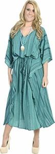Sukienka La Leela midi z długim rękawem oversize