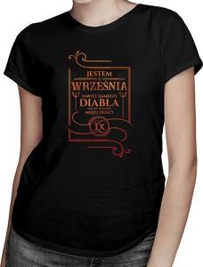 Czarny t-shirt Koszulkowy z okrągłym dekoltem