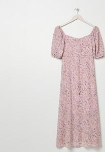 Sukienka Sinsay z krótkim rękawem midi