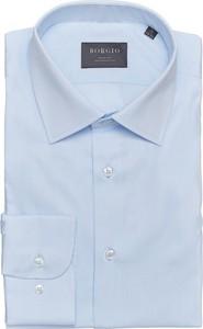 Niebieska koszula Borgio z długim rękawem