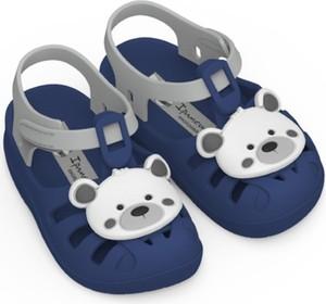 Granatowe buty dziecięce letnie Ipanema dla chłopców na rzepy