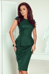 Zielona sukienka NUMOCO z krótkim rękawem midi