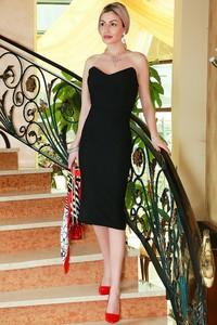 Czarna sukienka IVET midi bez rękawów