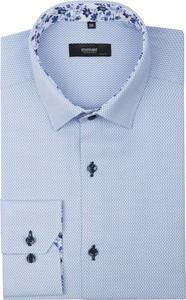 Niebieska koszula mmer z bawełny