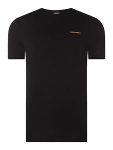 Czarny t-shirt Dsquared2 Beach & Body w stylu casual z nadrukiem z krótkim rękawem