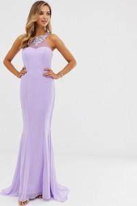 Fioletowa sukienka City Goddess maxi