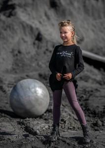 Fioletowe legginsy dziecięce Mashmnie