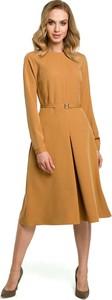 Brązowa sukienka MOE