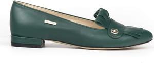 Baleriny Zapato w stylu glamour z płaską podeszwą