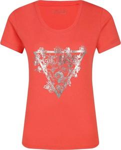 T-shirt Guess Jeans z krótkim rękawem w stylu casual z okrągłym dekoltem