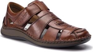 Buty letnie męskie Rieker w stylu casual