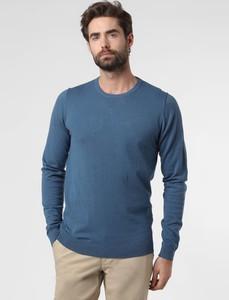 Niebieski sweter Finshley & Harding z bawełny