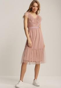 Sukienka Renee z krótkim rękawem trapezowa