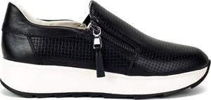 Czarne półbuty Geox w stylu casual