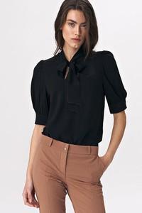 T-shirt Nife z krótkim rękawem w stylu casual z dekoltem w kształcie litery v