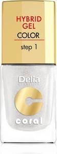 Delia Cosmetics, Coral Hybrid Gel, emalia do paznokci nr 32, 11 ml