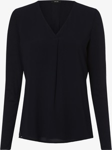 Czarna bluzka Opus z dżerseju z długim rękawem