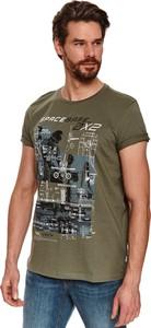 T-shirt Top Secret z tkaniny w młodzieżowym stylu