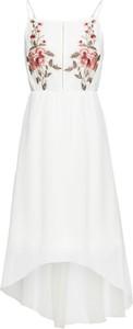 Sukienka bonprix BODYFLIRT bez rękawów midi z dekoltem w kształcie litery v
