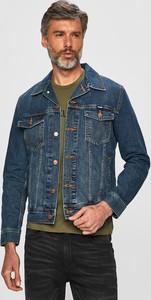 Niebieska kurtka Wrangler w młodzieżowym stylu z bawełny