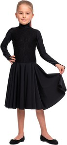Czarna sukienka dziewczęca Rennwear