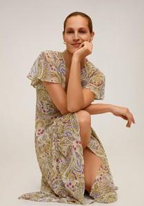Sukienka Mango z krótkim rękawem maxi