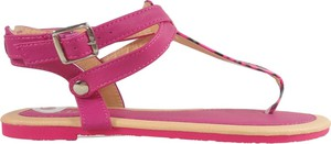 Różowe sandały Kokietki z płaską podeszwą