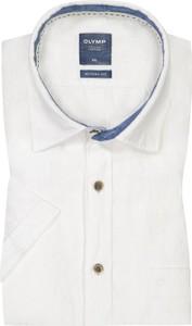 Koszula Olymp z lnu z krótkim rękawem