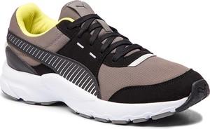 Brązowe buty sportowe Puma sznurowane