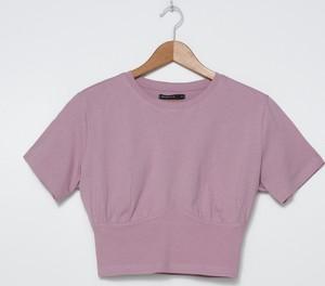 T-shirt House z krótkim rękawem w stylu casual z okrągłym dekoltem