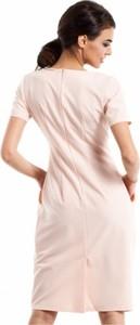 Sukienka MOE z krótkim rękawem z dekoltem w kształcie litery v