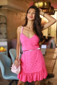 Różowa sukienka IVET mini