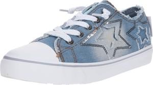 Niebieskie trampki dziecięce Dockers sznurowane z jeansu