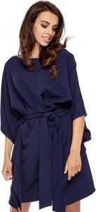 Niebieska sukienka Ooh la la mini z długim rękawem