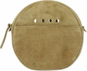 Zielona torebka VITTORIA GOTTI na ramię zamszowa ze skóry