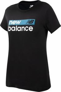 Bluzka New Balance z dżerseju z krótkim rękawem