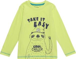 Zielona koszulka dziecięca Blue Seven z długim rękawem z bawełny