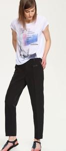 Czarne spodnie Troll w stylu klasycznym
