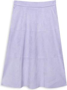 Fioletowa spódnica ECHO w stylu casual z zamszu
