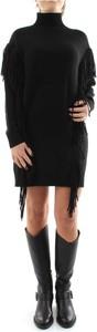 Czarna sukienka Pinko z golfem z długim rękawem w stylu casual
