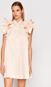 Sukienka Imperial mini w stylu casual z krótkim rękawem