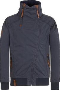Granatowa kurtka Naketano z bawełny w stylu casual