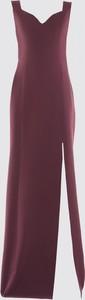 Fioletowa sukienka Trendyol maxi prosta