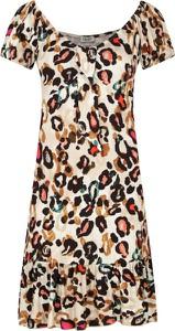 Sukienka Liu-Jo trapezowa midi z krótkim rękawem