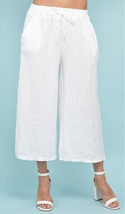 Spodnie Rodier z lnu w stylu retro