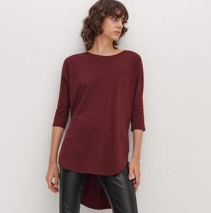 Czerwona bluzka Reserved z długim rękawem
